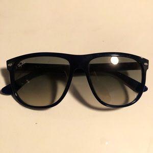 Authentic navy flattop sunglasses